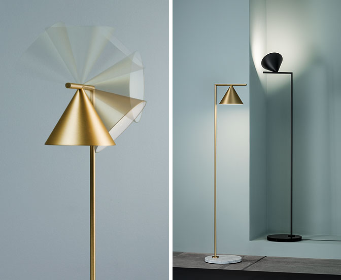 Patricia urquiola subtly diffuses light with serena lamps for flos